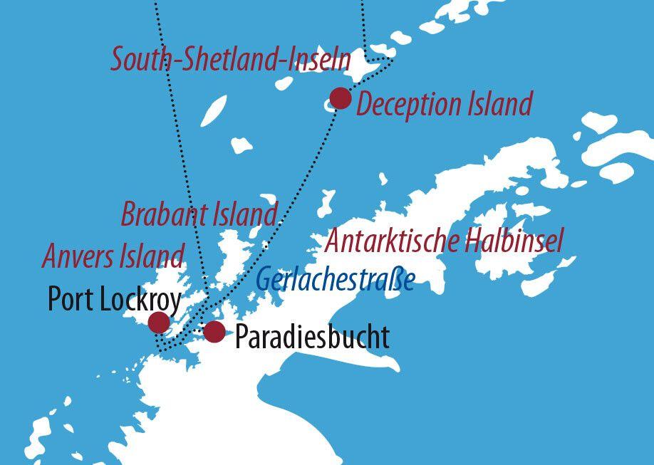 Arktis Und Antarktis Karte
