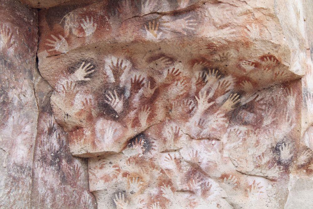 Wandmalerei in der Cueva de las Manos