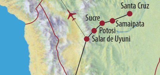Karte Reise Bolivien Zu den Ursprüngen Südamerikas 2020