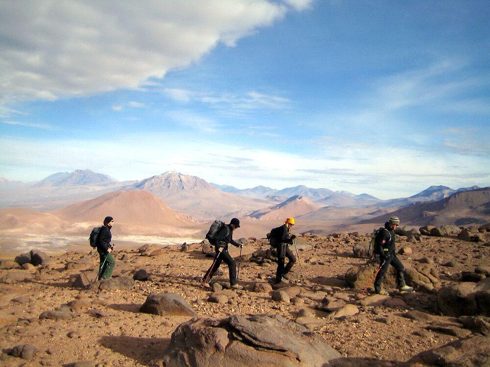 Aufstieg am Cerro Soquete
