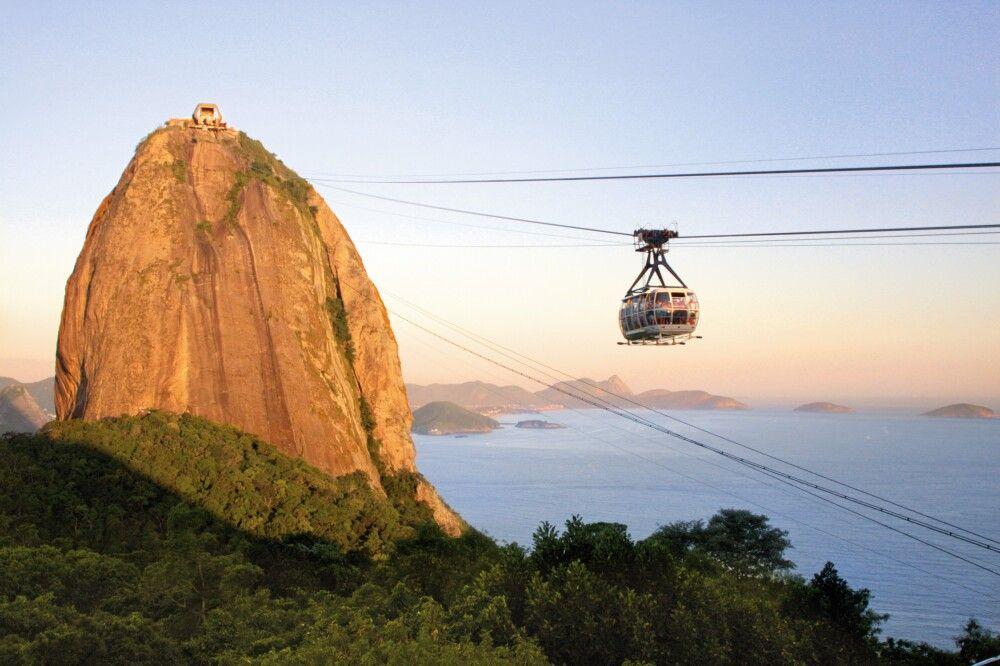 Seilbahnfahrt auf den Zuckerhut in Rio de Janeiro