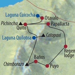 Karte Reise Ecuador Auf Humboldts Spuren 2020