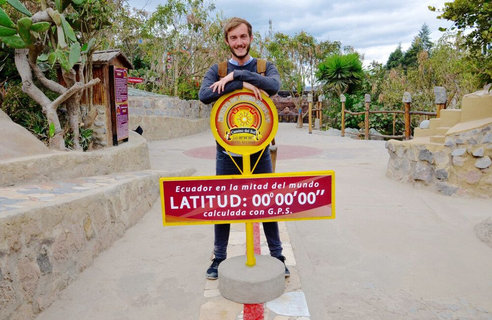 Clemens Sehi am Äquator
