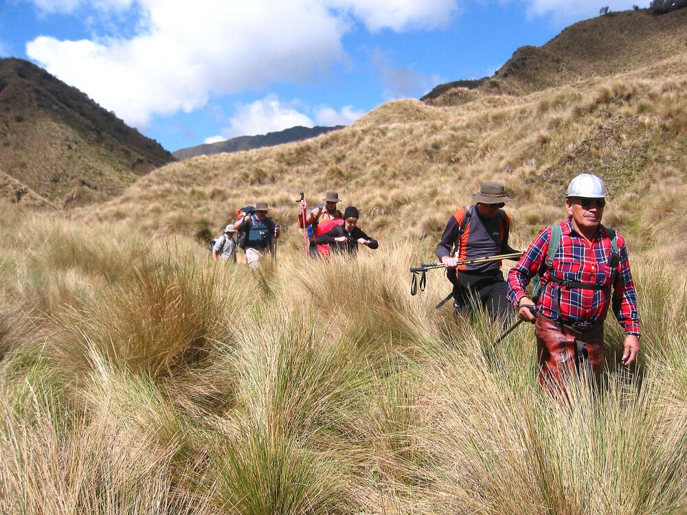 Wanderung in den Anden