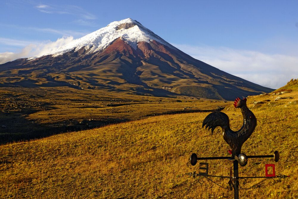 Blick auf den Vulkan Cotopaxi