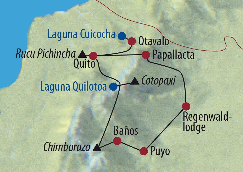 Ecuador Auf Humboldts Spuren Wanderung auf dem Rucu Pichincha Karte