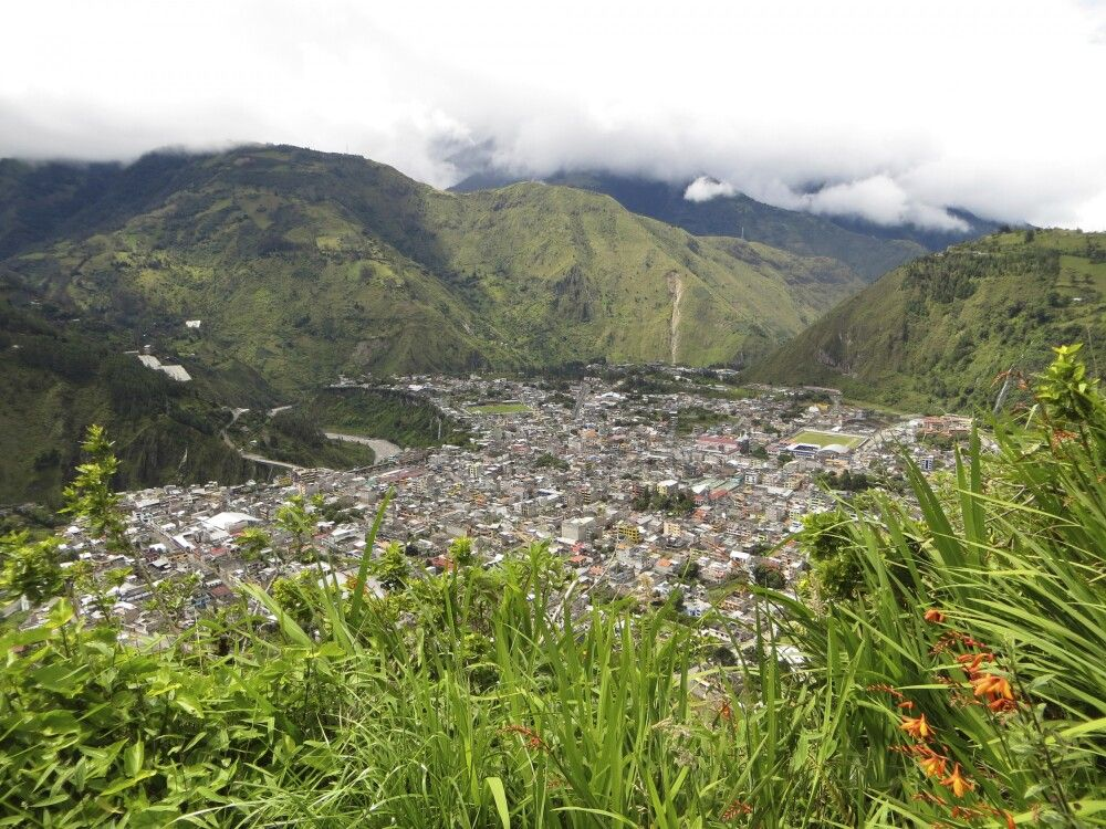 Blick auf Baños