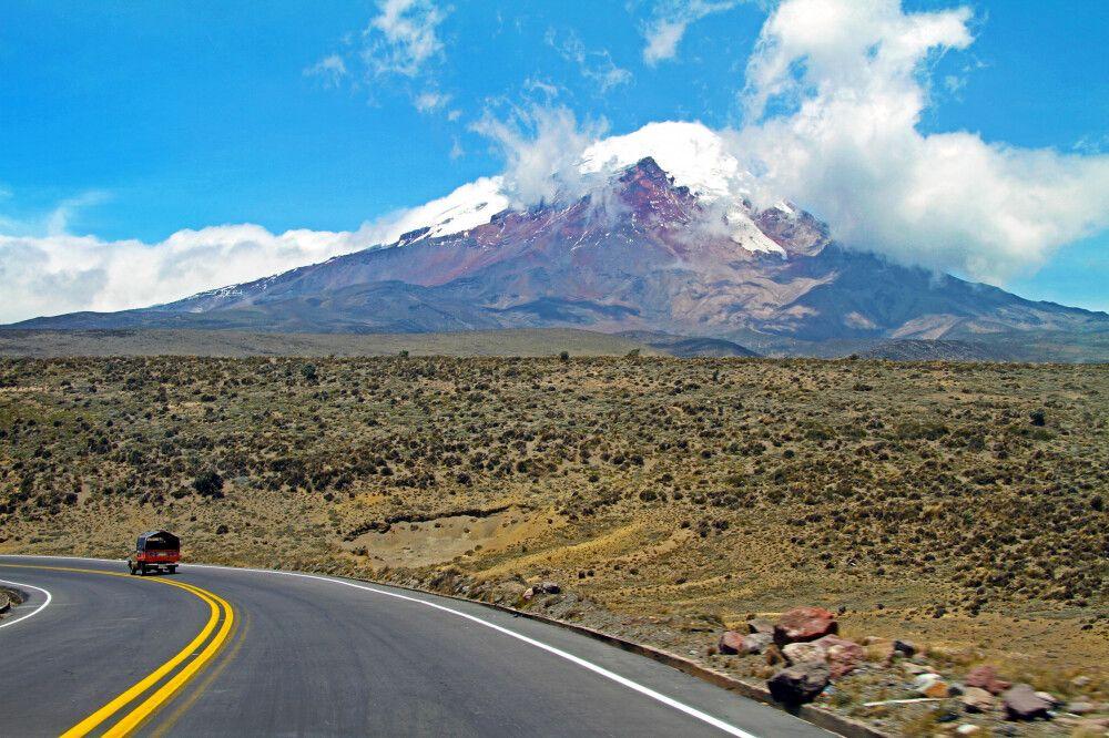 Weite der Hochebene des Chimborazo