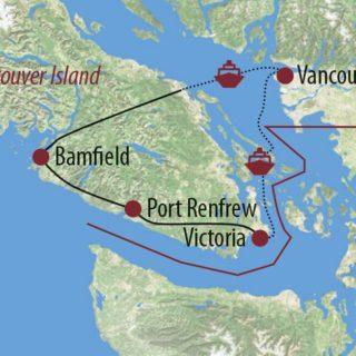 Karte Reise Kanada | British Columbia Wandern auf dem West Coast Trail 2020