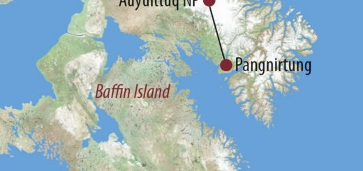 Karte Reise Kanada | Nunavut Durchquerung des Auyuittuq-Nationalparks 2020