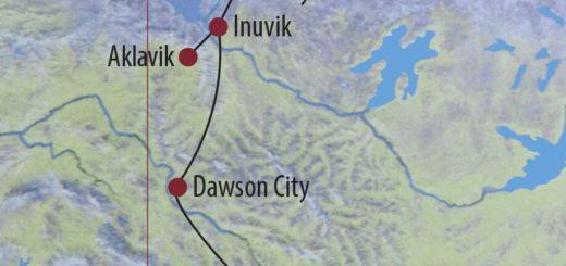 Karte Reise Kanada | Yukon • Northwest Territories Arctic Roadtrip – Winterabenteuer im Norden 2020