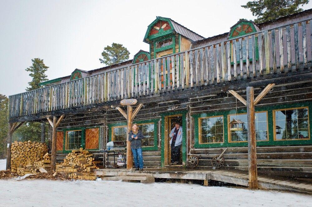 Die gemütliche Lodge der Huskyfarm