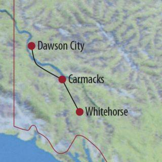 Karte Reise Kanada | Yukon Kanuabenteuer auf dem berühmten Yukon River 2020