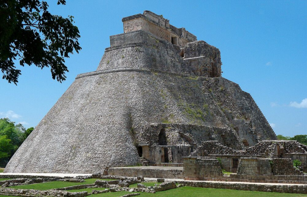 Adivino-Pyramide in Uxmal, Ruinenanlage der Maya
