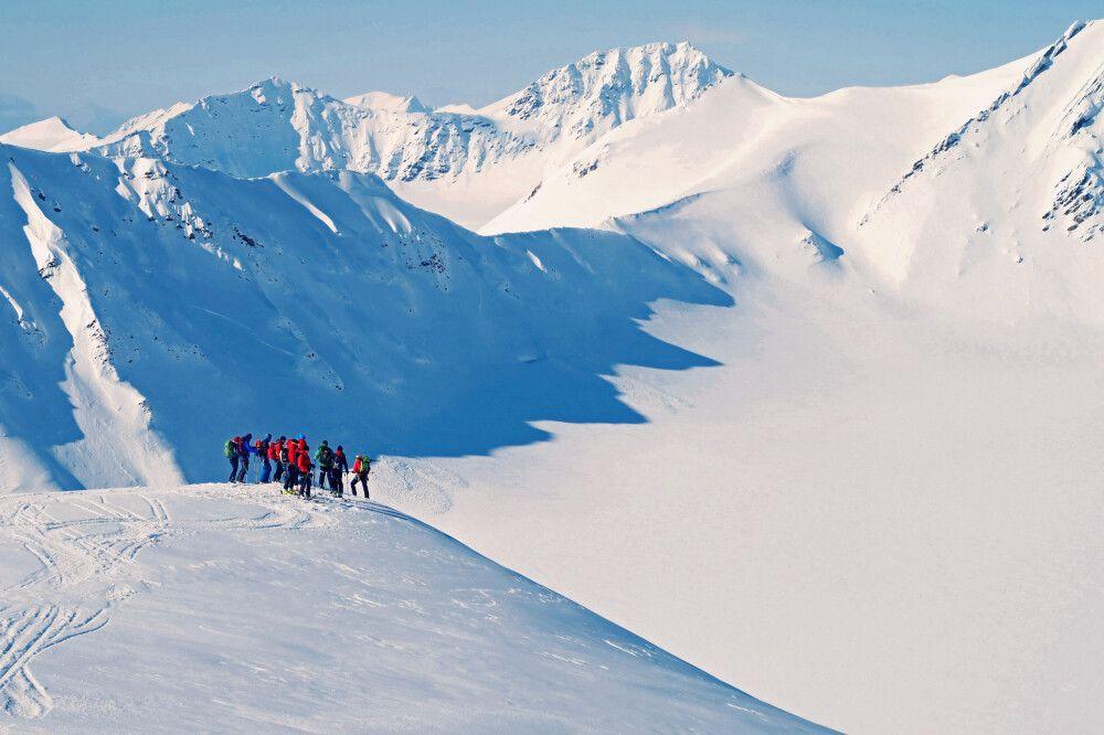 Unterwegs zu den Gipfeln Spitzbergens