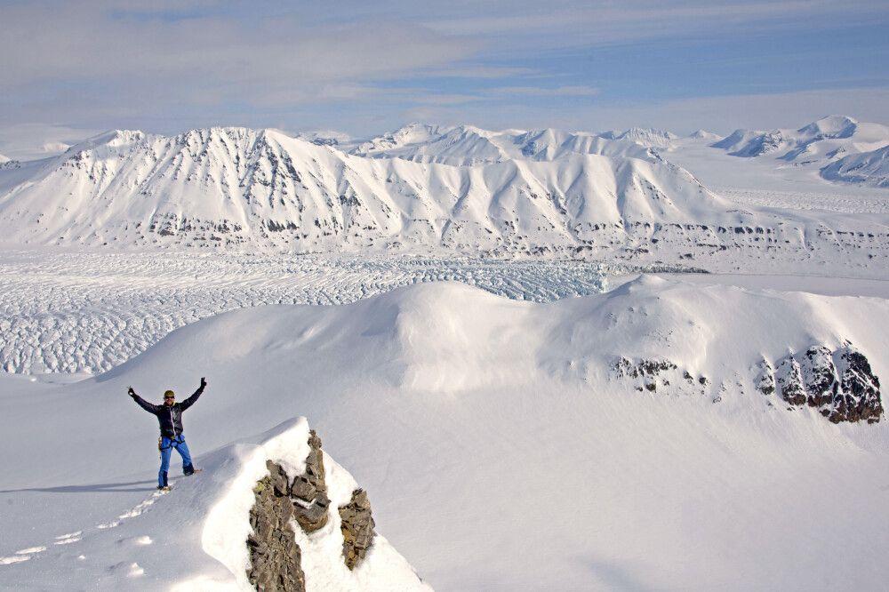 Gipfelsturm in Spitzbergen