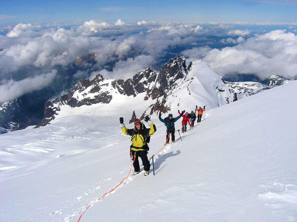 Aufstieg am Mount Baker