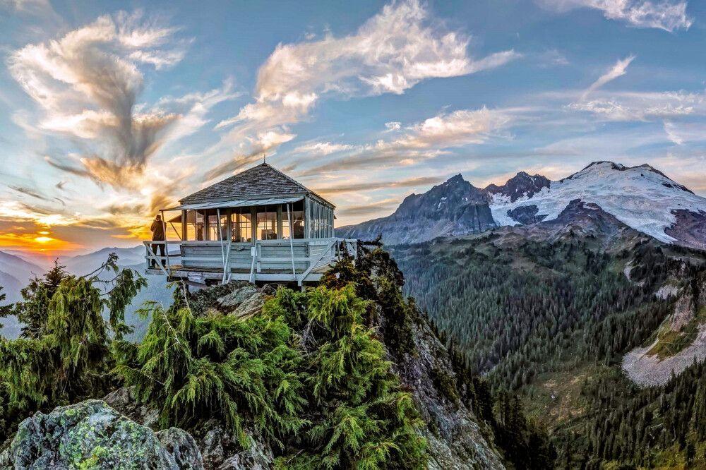 Blick auf den Mount Baker, Nordkaskaden, Washington State