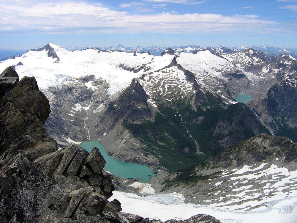 Fantastischer Blick vom Mount Shuksan über die Kaskadenkette