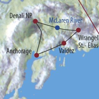 Karte Reise USA | Alaska Alaskas Naturparadiese 2020